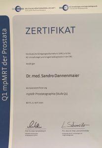 MR Prostata Zertifizierung Dr. Dannenmaier
